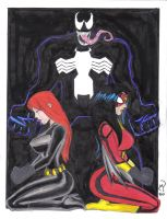 Venon Black Widow SW COLORS by MichaelPowellArt