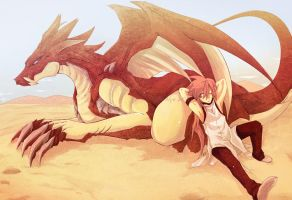Dragon desert by nidoriko
