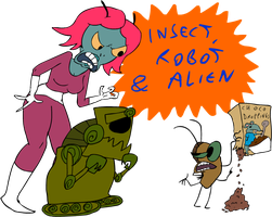 Insect, Robot and Alien 2010 by EggHeadCheesyBird
