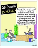 Debt Counseling for Democrats by Conservatoons
