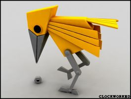 yellow bird by cl0ckw0rked