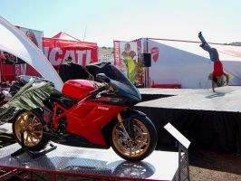 Ducati 1198S handstand guy by Partywave