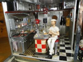 1950's Diner 1:12 Scale Mini by MiniatureMadness