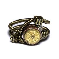 Steampunk ring Brass gear by CatherinetteRings