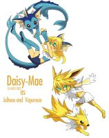 Daisy as Jolteon and Vapreon by SASUKE11822