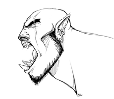 Orc Doodle by baenling
