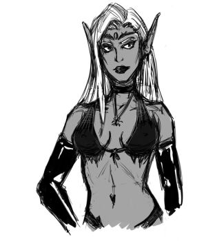 Drow Lady by Me by TamTamura