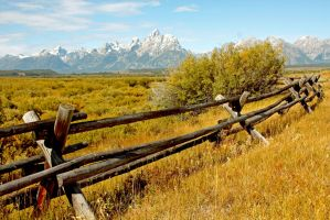 Fenced in Teton Range by Kippenwolf