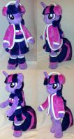 Twilight Sparkle/ Cheerleader in the winter by agatrix