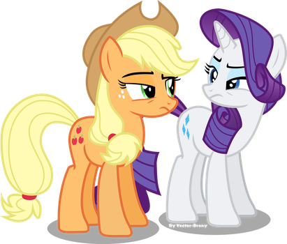Applejack And Rarity are not buying it by Vector-Brony