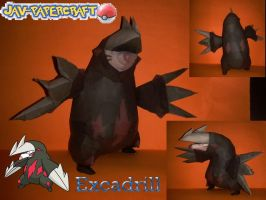 excadrill papercraft v2 by javierini