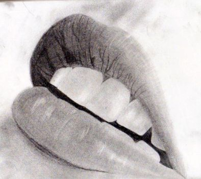 Lips Drawing by MikkiMarie