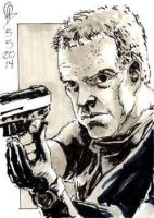 5/5/2014 Daily Sketch Card - Jack Bauer 24 by tbeistel