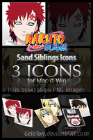Naruto II Sand Siblings Icons by GeloTon