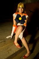 Sailor Venus Sitting Pose by SammieKaye