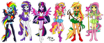 EG as Sailor warriors by RainbowfiedMaya