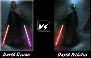 Darth Revan vs Darth Nihilus by LostCerberus
