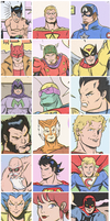 SUPER HEROES CLOSE-UPS by paintmarvels