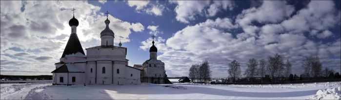 March evening in the monastery by NikolaiMalykh