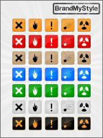 WARNING ICONS v1.0 by brandmystyle