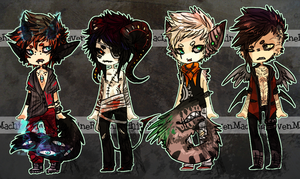Adopt Set - Monster Boys 2 [CLOSED] by MachineRaven