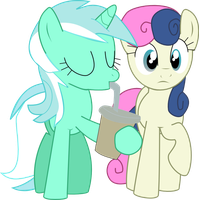 Lyra and BonBon by nero-narmeril