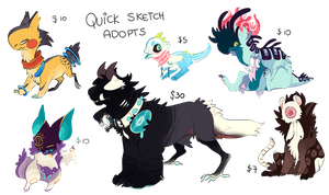 Quick Sketch Adopts - CLOSED by 11monsters
