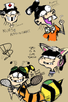 Double D Doodles. by OpticBlast00