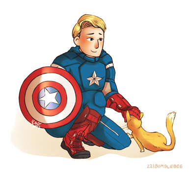 Captain America by cannorachan