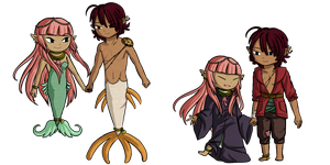 Couple Shell Bands+Siren Relationships by Icy-Snowflakes