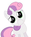 Sweetie Belle's sadfais by goldenfeathers