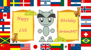 Happy Birthday deviantART by sugarislife28