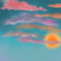 Painted Sunset --Slightly Restricted Stock by ShawneeDawn