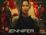 Jennifer Lawrence as Katniss Everdeen by HappinessIsMusic