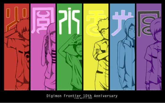 Digimon Frontier 10th Anniversary by heartbreaker19