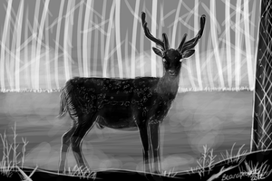 grayscale sketch by beansproutt
