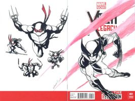 WOLVERINE and the TMNT sketch cover by mdavidct