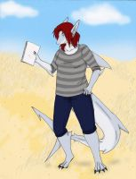 Soubi The Spotted Great White...Anthro by HandShark