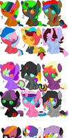 WHATEVER SHIPPING PONIES (ADOPT FOR FREE) by MephilesfanforSRB2