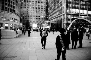 Canada Square walkway by duhcoolies