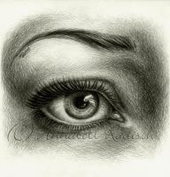 eye cross hatching by Isisnofret