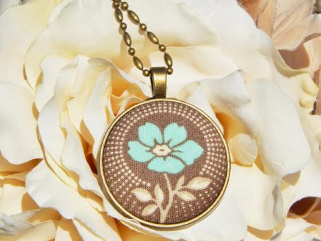 Vintage Flower Necklace by dotdonahue