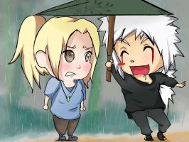 jiraiya-tsunade: your umbrella by Myoboku-keeper