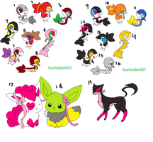 Mixed 1 point adoptables by GuseiRuyuko