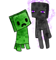 Creeper n Ender by iiLocoGamer14