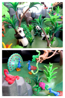 Playmobil Jungle - Pandas And Peacocks by The-Toy-Chest