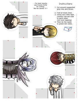 Death Note: FingerPuppet Set 2 by SilentReaper