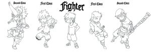 Fighter Classes by Kritians