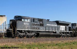Penn Central heritage SD70ACe #1073 on 54A by EternalFlame1891