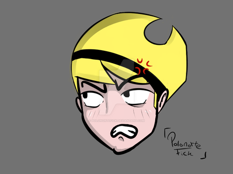 Fanart Mandy (testing brushes) by polonortefick